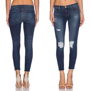 J Brand Troublemak Distressed Crop Skinny Jeans